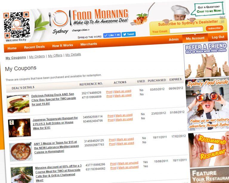Food Morning website screenshot